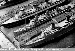 Queen Elizabeth, Queen Mary and the Normandie